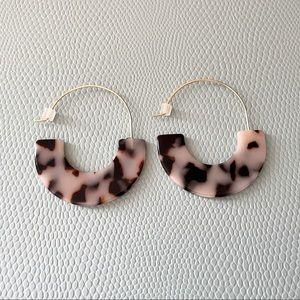 LOFT Tortoise Shell Hoop Earrings